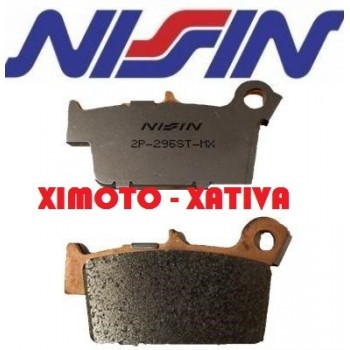 NISSIN 296 SINTERIZADA TRASERO EC/Beta/RMZ/KXF450/SHERCO