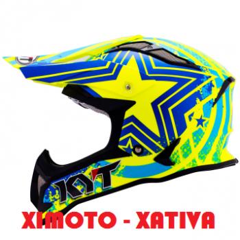 CASCO KYT MX STRIKE STRIPE fluor