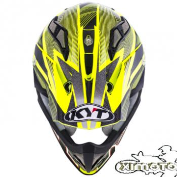KYT MX Strike Stripe Amarillo FLuor